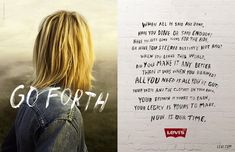 """Levi's """"Go Forth"""" Legacy campaign - print ad spread: """"Did You Make It Any Better?"""""""