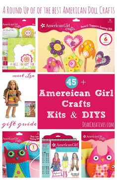 Craft Kits A Round up of the best American Doll Crafts, Craft kits and DIYs for kids to craft with. So many to choose from! Great creative play / learning activities for kids. Perfect for gifting for birthdays, holidays or just because. Fun for the kids! Summer Diy, Summer Crafts, Fun Crafts, Arts And Crafts, Adult Crafts, Crafts For Girls, Gifts For Kids, Kids Learning Activities, Summer Activities