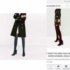 facef663c3b My 2 velvet over the knee boots ordered from zara..better hurry up.