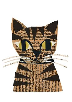 TABBY CAT Birthday Card by Denise Fiedler for Art Press distributed by Calypso Cards Inside Greeting: Have a Happy Tabby Birthday! Price: $3.50