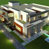 بيوت حديثة التصميم Model House Plan, House Map, Family House Plans, Model Homes, Villas, Arch, Mansions, House Styles, Home Decor