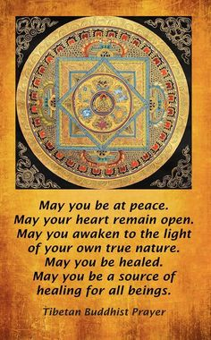 Image result for tibetan buddhist prayer may you be at peace may your heart remain open with goddess of compassion picture
