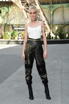 Style File: Cara Delevingne is a Sci-Fi Warrior Queen at Paris Fashion Week | Tom + Lorenzo