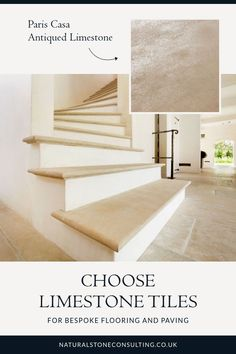 From small, bespoke antique tiles to large-format modern or aged materials, our limestones feature grey, beige, blue, black and cream tones. With a range of finishes available, our durable stone materials are selected for both interior and exterior residential and commercial projects. Find out more about this versatile tile on the website. #naturalstoneconsulting #naturalstone #limestonefloors Limestone Flooring, Natural Stone Flooring, Utility Room Designs, Outdoor Paving, Antique Tiles, Flooring Options, Modern Spaces, Stone Tiles, Interior Design Inspiration