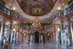 Wiblingen Abbey Library | 25 Incredible European Libraries To Visit Before You Die