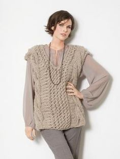 Knitting Patterns Ladies Vest Free : 1000+ images about Knitted Sweater Patterns on Pinterest ...
