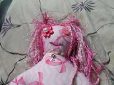 Breast Cancer Dammit Doll by RWApothecary on Etsy Dammit Doll, Breast Cancer, Etsy Shop, Dolls, Trending Outfits, Apothecary, Hair Styles, Unique Jewelry, Handmade Gifts