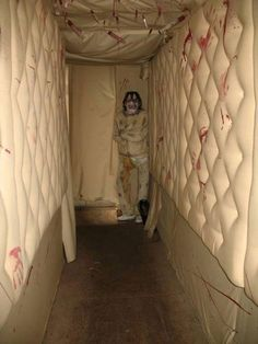Asylum padded hallway -Great for a refreshingly bright room instead of the more common dark sets ~Amy