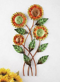 Floral Country Sunflower Metal Wall Art