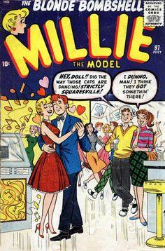 Millie the Model Vintage Comic Books, Vintage Comics, Vintage Ads, Millie The Model, Archie Comics Riverdale, Romance Comics, Betty And Veronica, Silver Age Comics, Old Comics