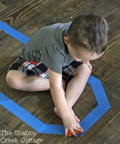 Painter's Tape Roads: keeping little ones busy for cheap or free