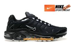 buy online 9710e 1cd94 Nike Air Max Tn Tuned Requin Mesh Chaussures Nike Basket Pas Cher Pour  Homme Noir Blanc 604133-102