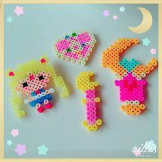 Sailor Moon perler beads by 1noamomo