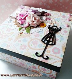 Mdf - Dress Mannequin Box | Karencraft shabby chic box jewlery roses vintage box ideas