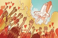 Kevin Cannon -- illustration for Slate article about the space shuttle