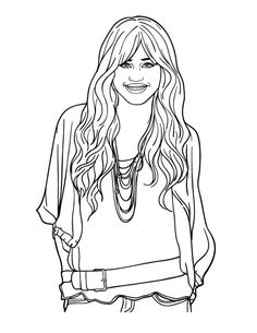 Free Printable Hannah Montana Coloring Pages For Kids | 305x236