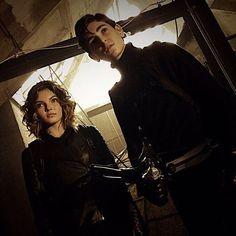 @davidamazouz and @camrenbicondova are always looking for trouble. : @dannyjohncannon #Gotham #BehindTheScenes #SetLife