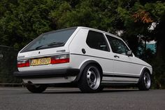 White Mk1 Golf GTI with ATS cups