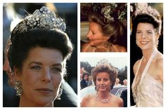 THE HANOVARIAN FLORAL TIARA Worn in photos by the wives of the Prince of Hanover, Ernst August. He is divorced from his first wife, Chantal, and is currently married to, but separated from, second wife, Caroline of Monaco.