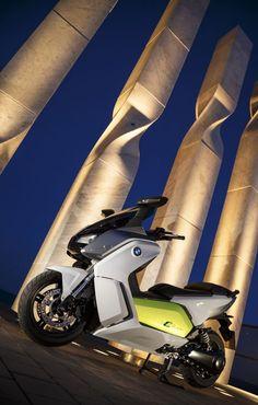 A scooter elétrica da BMW - High-Tech Girl   Scooter BMW C Evolution, amiga do ambiente