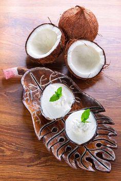 Glace à la noix de coco Dépaysement du soir #recettes #glaces
