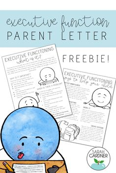 Executive Functioning Parent Letter FREEBIE - FREE parent letter explaining executive functioning skills to your parents - Social Emotional Learning, Social Skills, Adhd Strategies, Conscious Discipline, Letter To Parents, Parent Letters, School Social Work, Executive Functioning, Parent Communication