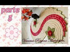 tapete Espiral ou caminho de mesa parte 4 final. por Vanessa Marcondes - YouTube