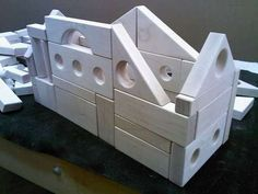 How to make natural wooden blocks