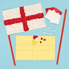 Day Tissue Craft Flag Kits - they could use the verse reference, a symbol or a word that identifies them with Christ. St George S Day, St George Flag, George Cross, Saint George, Nursery Activities, Craft Activities, Fete Ideas, World Thinking Day, Queen Birthday