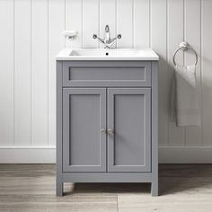 x x vanity unit & ceramic basin Adjustable internal wooden shelf Soft close doors with brushed stainless steel knobs Raised from the floor to prevent water damage Dimensions: x x Bathroom Sink Cabinets, Bathroom Basin, Bathroom Flooring, Bathroom Storage, Bathroom Vanities, Grey Bathroom Furniture, Bathroom Vanity Units Uk, Small Vanity Sink, Bathroom Ideas