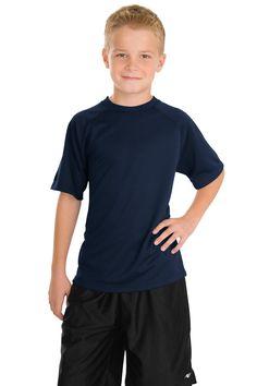 Sport-Tek Youth Dry Zone Raglan T-Shirt Y473 True Navy