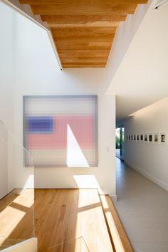 Wand- und Deckenverkleidung aus Holz in einem modernen Haus #house ...