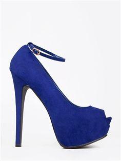 Breckelle's JUDY-21 Ankle Strap Peep Toe Pump | Shop Shoes