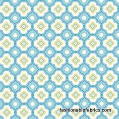 Fabric... Taza Geo in Aqua by Dena Designs