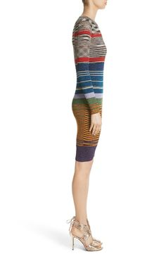 Main Image - Missoni Stripe Space Dye Knit Dress Metallic Thread, Winter 2017, Nordstrom Dresses, Missoni, Knit Dress, Curves, Fashion Dresses, Pajama Pants, Stripes