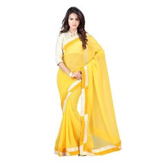 Bollywood Yellow Saree