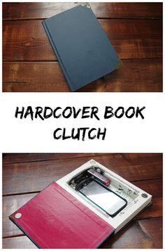 DIY Hardcover Book Clutch Purse