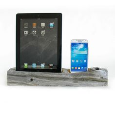 Charge your iPad and iPhone simultaneously on a unique piece of driftwood. Each piece is designed by nature, using the wind, sea and sand. The rough, unpredictable wood is a great juxtaposition to your glossy and minimal gadgets, allowing you to accessorize your office, studio or night stand. Equipped with two USB cables that can be plugged into your computer or wall adapter to charge or sync, it even comes with a copper tube to hold any extra cord you may have.