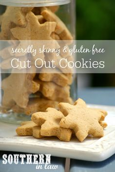 Healthier Cutout Cookies Recipe - Healthy Christmas Cookies Recipes, Low Fat, Low Sugar, Gluten Free