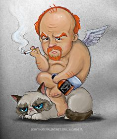 The Louis CK Grumpy Cat valentine