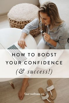 How to boost your confidence (& success! // To succeed, confidence matters as much as competence. Fortunately, self-confidence can be learned and practiced—here are four strategies to grow your self-belief and achieve your goals. How To Develop Confidence, Confidence Tips, How To Gain Confidence, Confidence Building, Self Development, Personal Development, Affirmations, Coaching, Positive Mindset