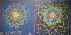 Double Mandalas to demonstrate freehand geometry.