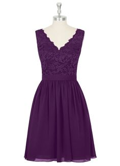 AZAZIE CIERRA. Fun and flirty, this concise chiffon and lace bridesmaid dress is appropriate for any wedding from the beach to the church. #Bridesmaid #Wedding #CustomDresses #AZAZIE