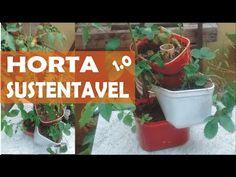Como Fazer Horta Sustentavel - Horta com potes de sorvete - YouTube