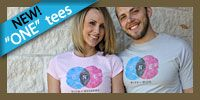 Marriage t-shirts. Really great t-shirts that promote love not nastiness. Nothing else drives me crazier than tearing down the men who love us.  ONE With My Husband Silver/Pink Tee