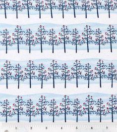 Holiday Inspirations-Winter Trees Glitter Fabric