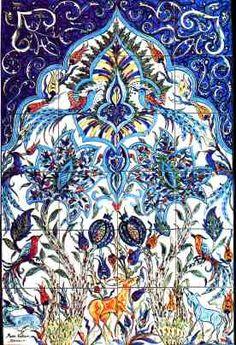 Armenian Art Tile Mural by Marie Balian