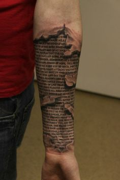 Ripped Flesh Tattoos | torn skin tattoos design is one of the superlative torn