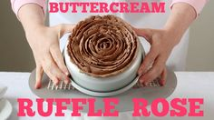 Learn how to pipe a buttercream ruffle rose on top of a cake. A simple and forgiving piping technique! Piping tip: Ateco #125 or Wilton #125 (large petal tip...