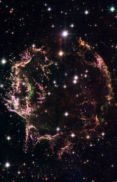 A new image taken with NASA's Hubble Space Telescope provides a detailed look at the tattered remains of a supernova explosion known as Cassiopeia A (Cas A). It is the youngest known remnant from a supernova explosion in the Milky Way. The new Hubble image shows the complex and intricate structure of the star's shattered fragments.